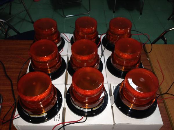 Đèn cảnh báo xe nâng chớp 12v-80v